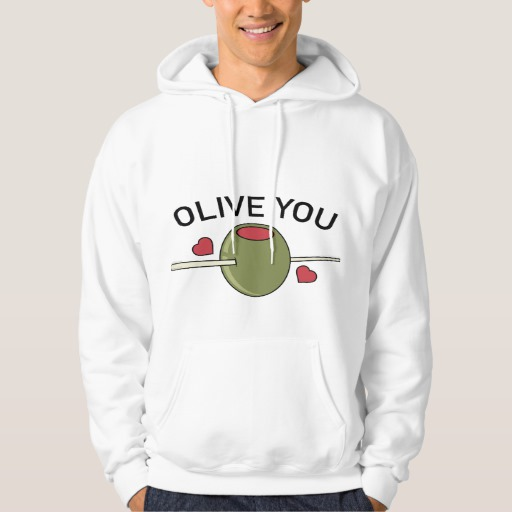 Olive You Men's Basic Hooded Sweatshirt