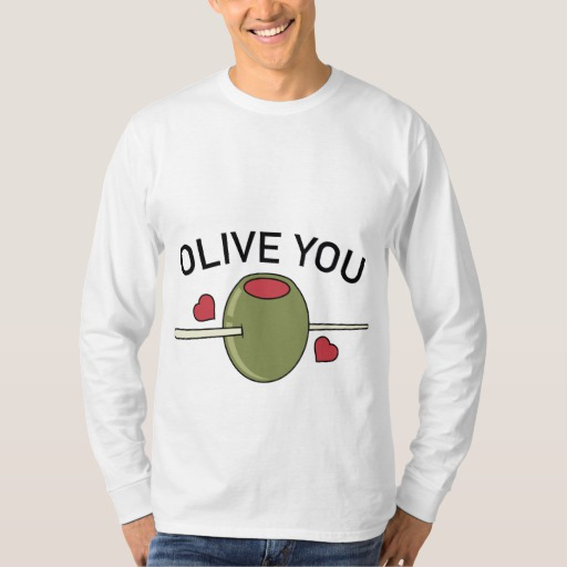 Olive You Men's Basic Long Sleeve T-Shirt