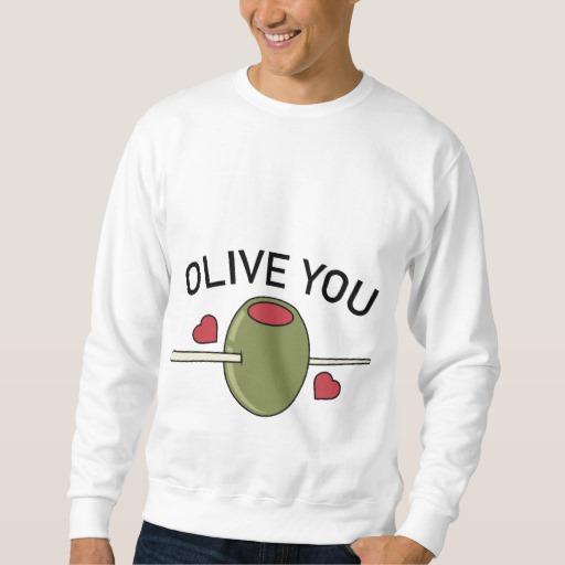 Olive You Men's Basic Sweatshirt