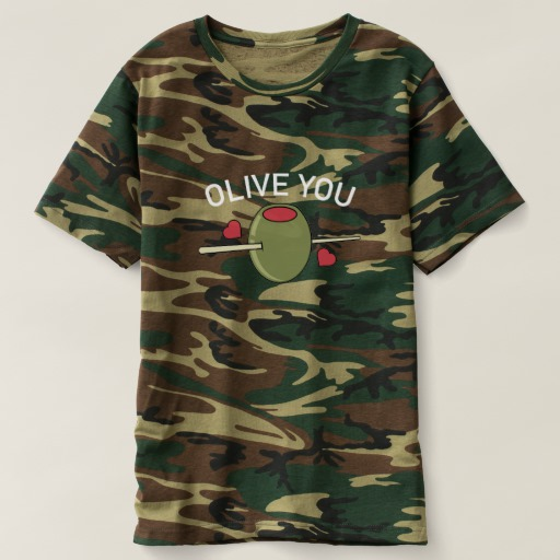 Olive You Men's Camouflage T-Shirt