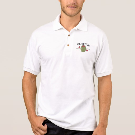 Olive You Men's Gildan Jersey Polo Shirt