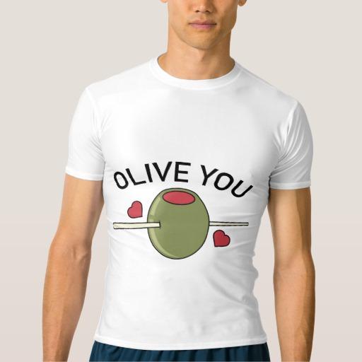 Olive You Men's Performance Compression T-Shirt