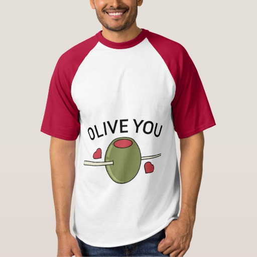 Olive You Men's Raglan Baseball T-Shirt