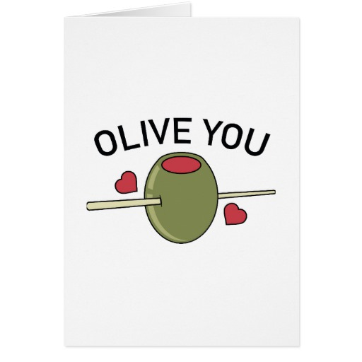 "Olive You Standard 5"" x 7"" Card"