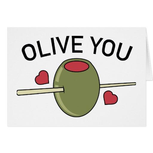 "Olive You Standard 5"" x 7"" Card"