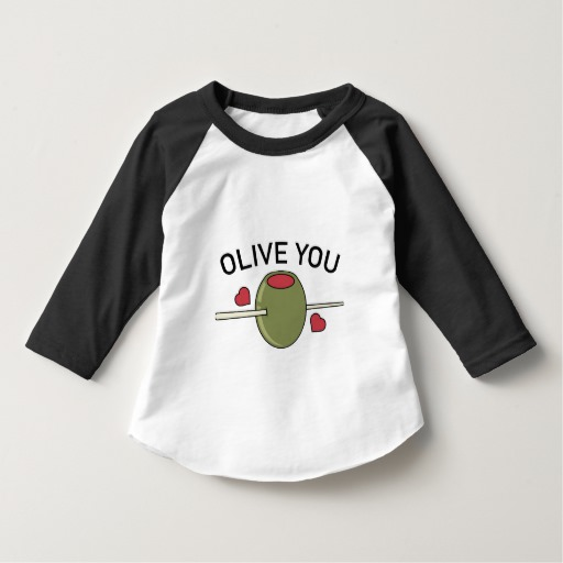 Olive You Toddler American Apparel 3/4 Sleeve Raglan T-Shirt