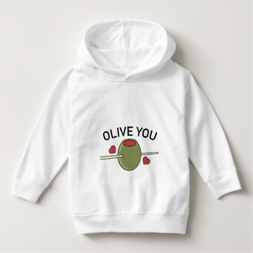 Olive You Toddler Pullover Hoodie
