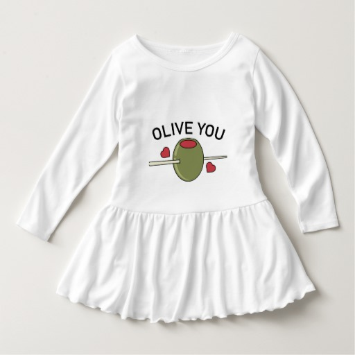 Olive You Toddler Ruffle Dress