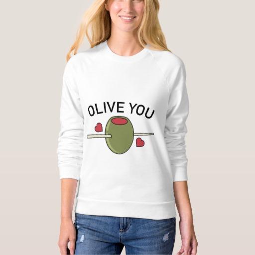 Olive You Women's American Apparel Raglan Sweatshirt