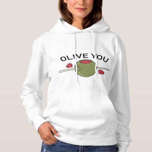 Olive You Women's Basic Hooded Sweatshirt