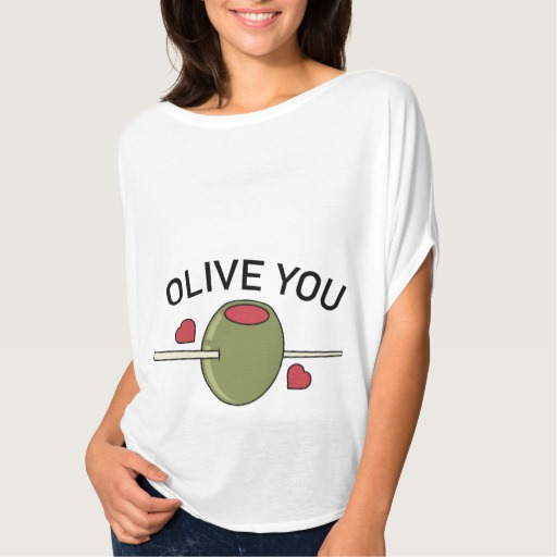 Olive You Women's Bella+Canvas Flowy Circle Top