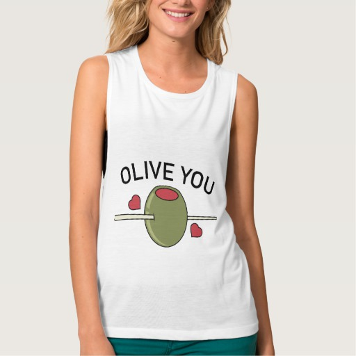 Olive You Women's Bella+Canvas Flowy Muscle Tank Top