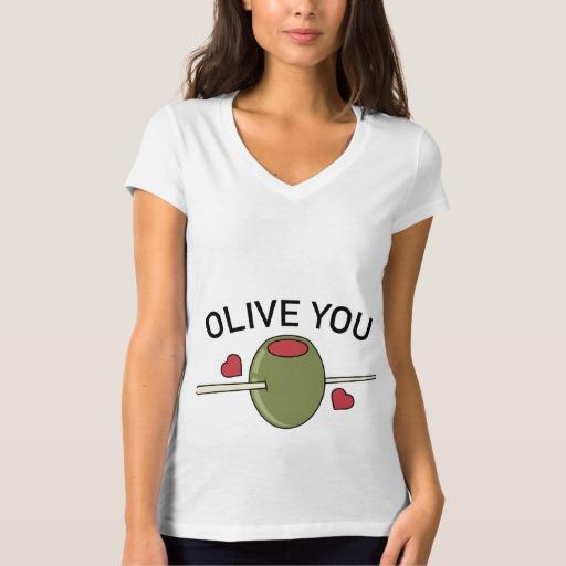 Olive You Women's Bella+Canvas Jersey V-Neck T-Shirt