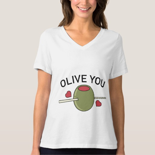 Olive You Women's Bella+Canvas Relaxed Fit V-Neck T-Shirt