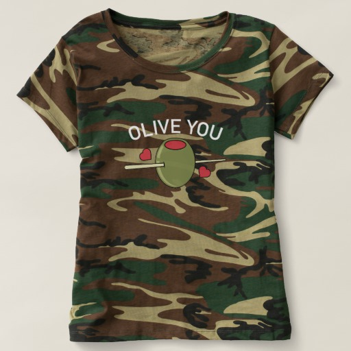 Olive You Women's Camouflage T-Shirt