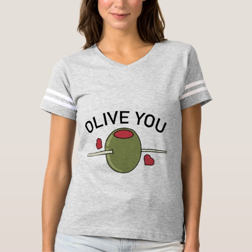 Olive You Women's Football T-Shirt