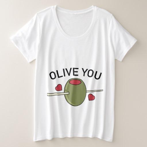 Olive You Women's Plus-Size Basic T-Shirt