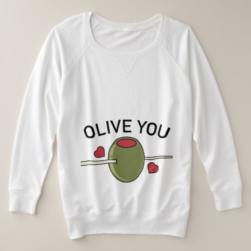 Olive You Women's Plus-Size French Terry Sweatshirt