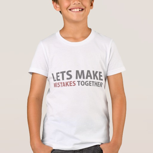 Lets Make Mistakes Together Kids' Bella+Canvas Crew T-Shirt