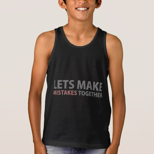 Lets Make Mistakes Together Kids' Bella+Canvas Jersey Tank Top