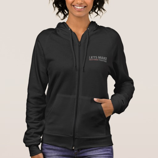 Lets Make Mistakes Together Men's American Apparel California Fleece Zip Hoodie