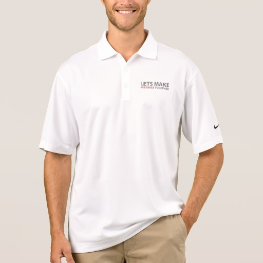 Lets Make Mistakes Together Men's Nike Dri-FIT Pique Polo Shirt