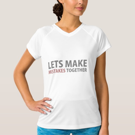 Lets Make Mistakes Together Women's Champion Double-Dry V-Neck T-Shirt