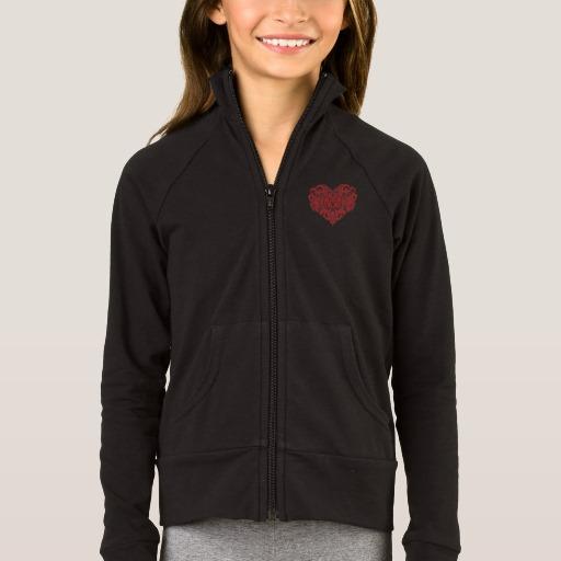 Ornate Valentines Day Heart Girls' Boxercraft Practice Jacket