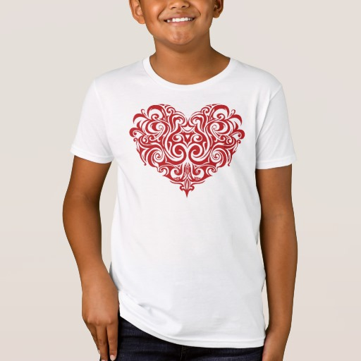 Ornate Valentines Day Heart Kids' American Apparel Organic T-Shirt