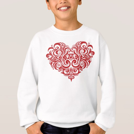 Ornate Valentines Day Heart Kids' Hanes ComfortBlend® Sweatshirt