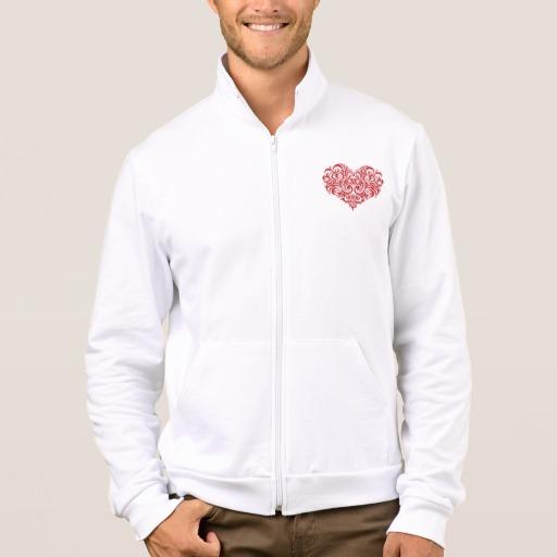 Ornate Valentines Day Heart Men's American Apparel California Fleece Zip Jogger