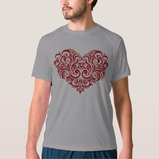 Ornate Valentines Day Heart Men's New Balance T-Shirt