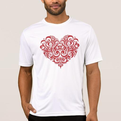 Ornate Valentines Day Heart Men's Sport-Tek Competitor T-Shirt