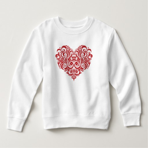 Ornate Valentines Day Heart Toddler Fleece Sweatshirt