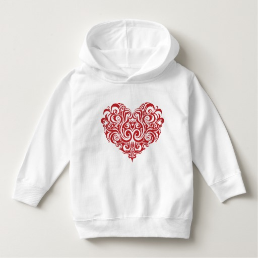 Ornate Valentines Day Heart Toddler Pullover Hoodie