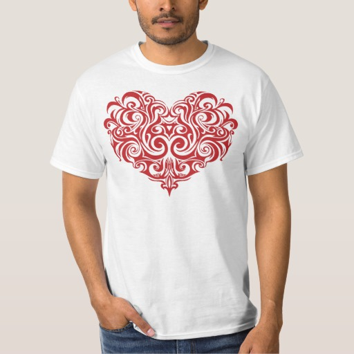 Ornate Valentines Day Heart Value T-Shirt