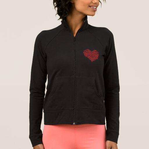 Ornate Valentines Day Heart Women's Practice Jacket