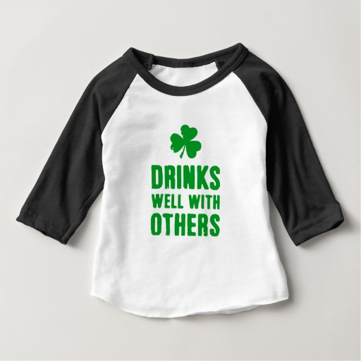Drinks Well With Others Baby American Apparel 3/4 Sleeve Raglan T-Shirt