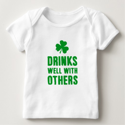 Drinks Well With Others Baby American Apparel Lap T-Shirt