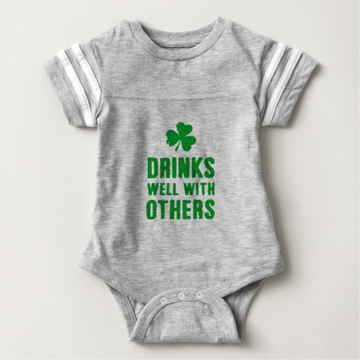 Drinks Well With Others Baby Football Bodysuit