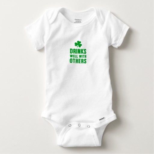 Drinks Well With Others Baby Gerber Cotton Onesie