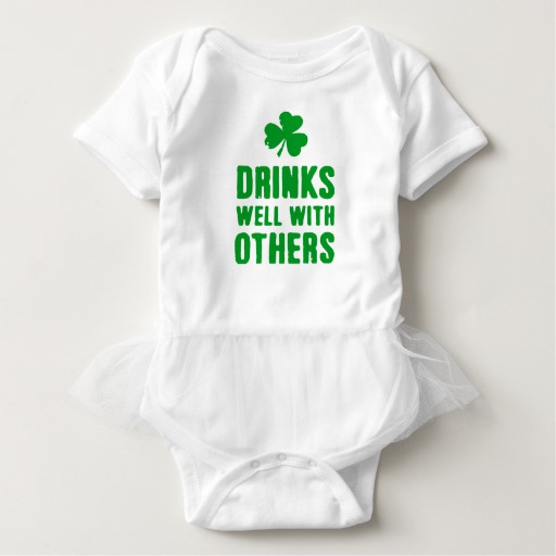 Drinks Well With Others Baby Tutu Bodysuit