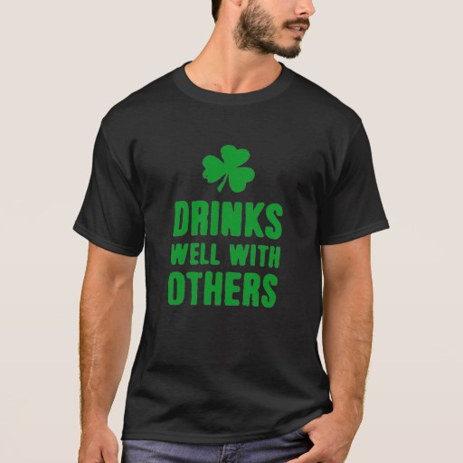 Drinks Well With Others Basic Dark T-Shirt