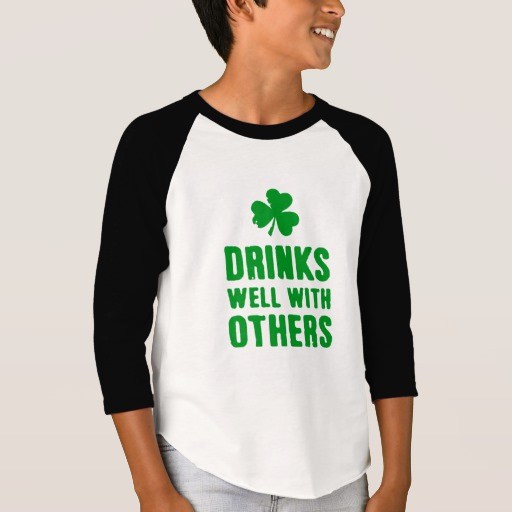 Drinks Well With Others Boys' American Apparel 3/4 Sleeve Raglan T-Shirt