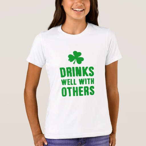 Drinks Well With Others Girls' Bella+Canvas Crew T-Shirt