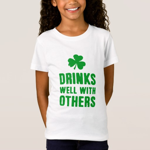 Drinks Well With Others Girls' Fine Jersey T-Shirt