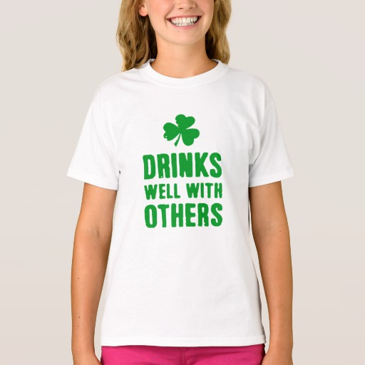 Drinks Well With Others Girls' Hanes TAGLESS® T-Shirt