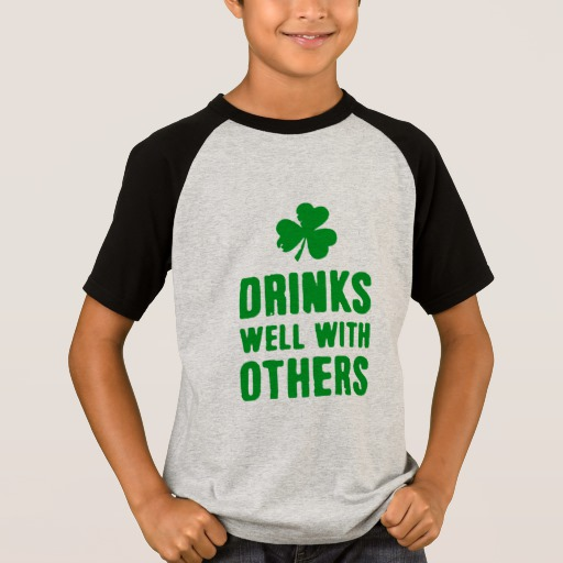 Drinks Well With Others Kids' Short Sleeve Raglan T-Shirt