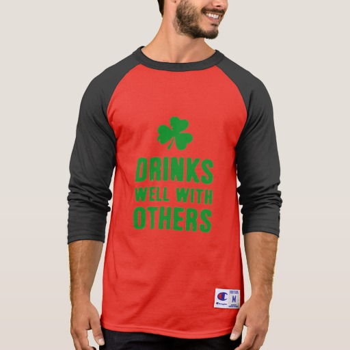 Drinks Well With Others Men's Champion 3/4 Sleeve Raglan T-Shirt