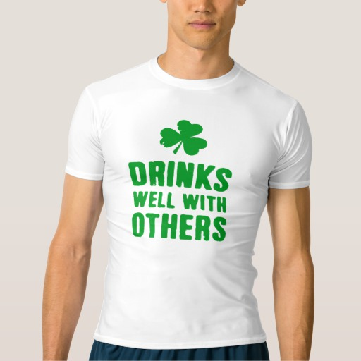 Drinks Well With Others Men's Performance Compression T-Shirt
